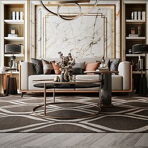 家具飾品組合模型3d模型