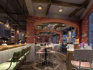 酒吧模型3d模型