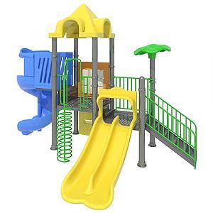 兒童滑梯模型3d模型