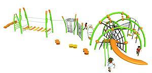 兒童攀爬體能訓練模型3d模型