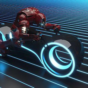 科技摩托車3d模型
