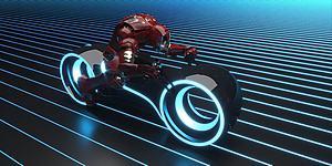 科技摩托車模型3d模型