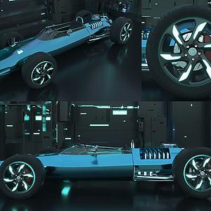 急速賽車3d模型