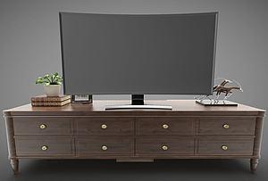 現代風格電視柜模型3d模型