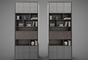 現代風格書柜模型3d模型