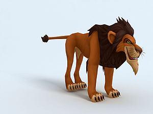 獅子王刀疤模型3d模型