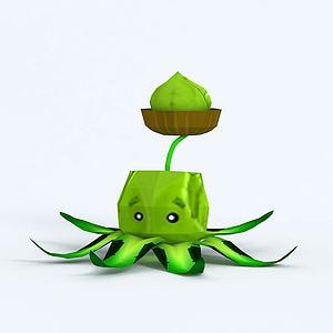 C4DCabbage-pult卷心菜模型