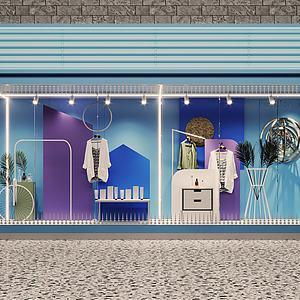 櫥窗3d模型
