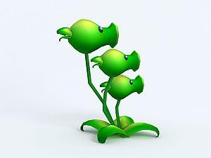 Threepeater三管豌豆模型3d模型