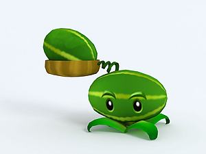 Melon-pult西瓜投擲機模型3d模型