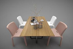 現代風格餐桌椅模型3d模型