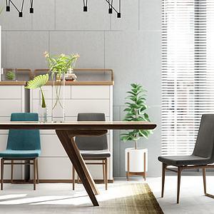 餐廳桌椅3d模型