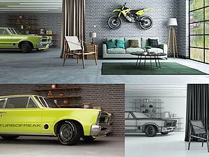 車庫模型3d模型