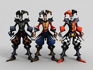 惡魔小丑·薩科模型3d模型