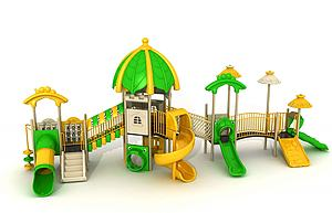 滑梯,游樂設備模型3d模型