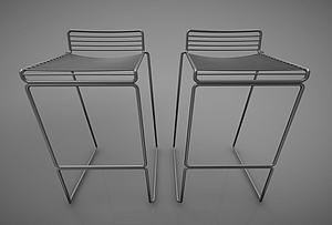 現代風格吧椅模型3d模型
