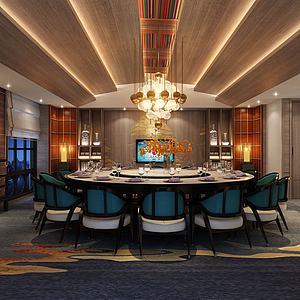 餐廳包房3d模型