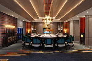 餐廳包房模型3d模型