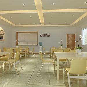 食堂餐廳3d模型