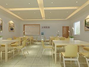 食堂餐廳模型3d模型