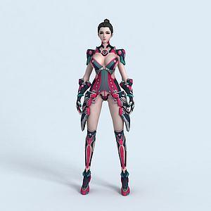 女王之刃有綁定動畫模型