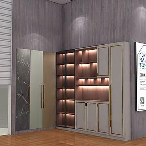 輕奢儲物柜3d模型