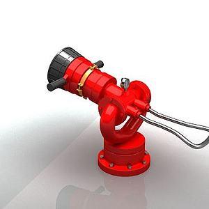 消防水炮3d模型