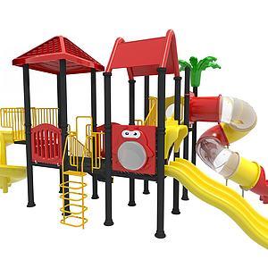 兒童設施3d模型