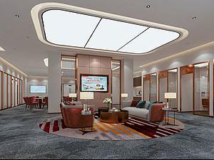 虎門支行VIP大廳模型3d模型