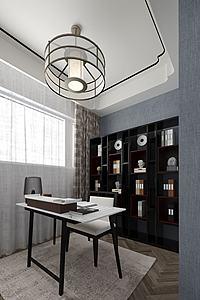 新中式書房模型3d模型