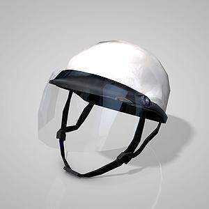 電動車頭盔3d模型