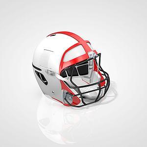 橄欖球頭盔3d模型