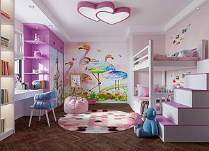 臥室,女孩房模型3d模型