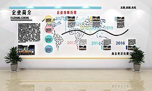 現代文化墻展廳文化墻模型3d模型
