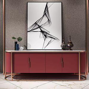 現代現代輕奢電視柜3d模型