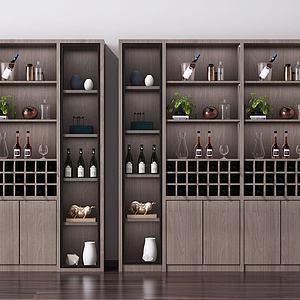 現代酒柜i3d模型
