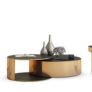 現代金屬茶幾模型