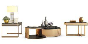 現代金屬茶幾模型3d模型