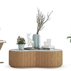 現代飾品茶幾模型