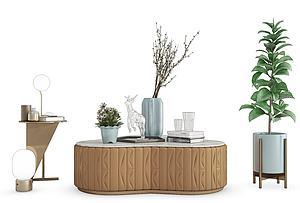 現代飾品茶幾模型3d模型