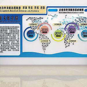 企業文化墻展廳文化墻模型