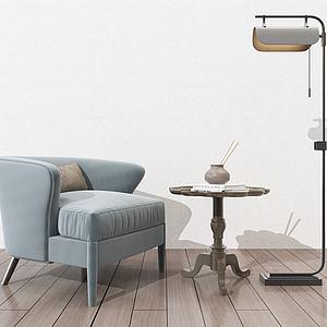 現代單人沙發模型