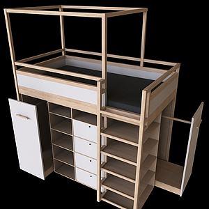 儲物床模型