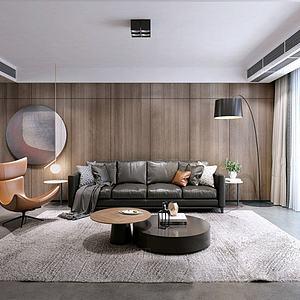 現代風格客廳,模型