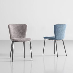現代休閑椅模型