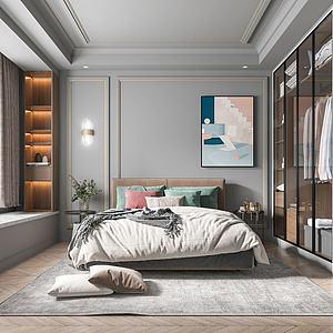 美式臥室模型