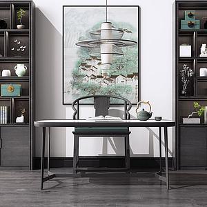 中式書桌模型