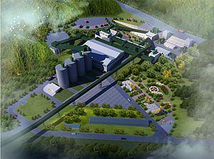 水泥廠模型3d模型
