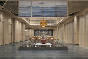 新中式,風格餐廳模型3d模型