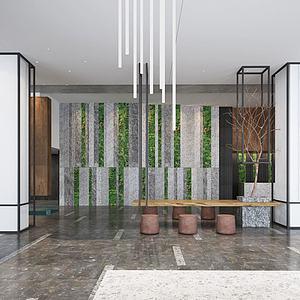 大廳,風格茶室模型
